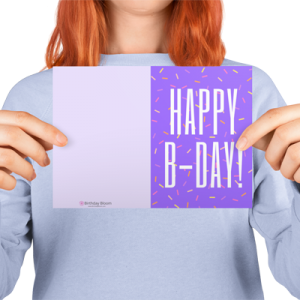 Birthday Greeting Card Purple