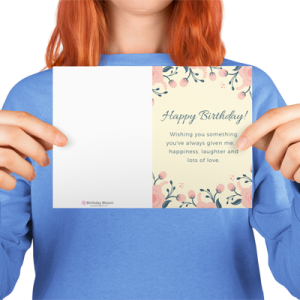 Floral Happy Bday Greeting Card