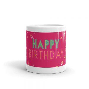 Happy Birthday Mug Red