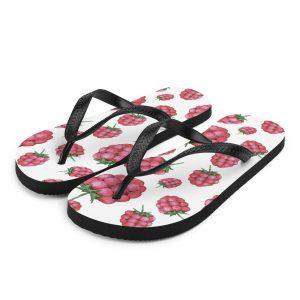 Raspberry Flip Flops